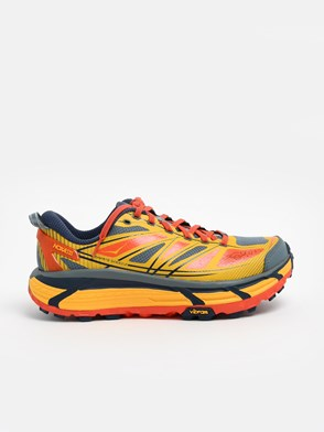 HOKA ONE ONE - YELLOW AND ORANGE MAFATE SPEED SNEAKERS