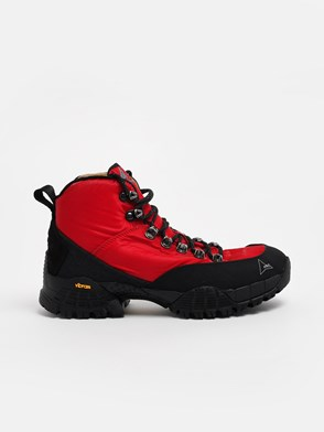 ROA HIKING - BLACK AND RED ANDREAS ANKLE BOOTS