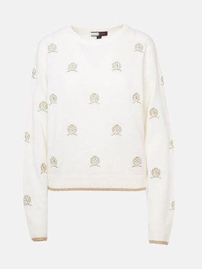 HILFIGER COLLECTION - WHITE SWEATER