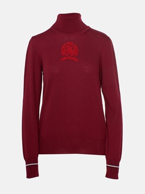 HILFIGER COLLECTION - BURGUNDY TURTLENECK