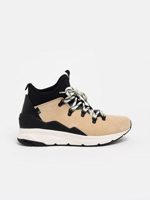 WOOLRICH - BLACK AND BEIGE SNEAKERS