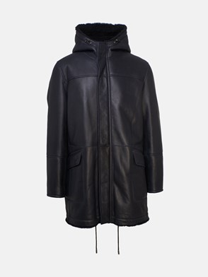 YVES SALOMON - BLACK PARKA