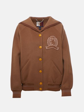 HILFIGER COLLECTION - BOMBER VARSITY BEIGE