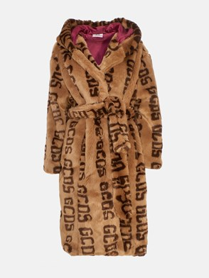 GCDS - BROWN FUR COAT