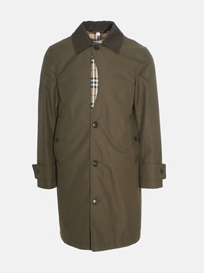 BURBERRY - GREEN ASHBOURNE TRENCH COAT