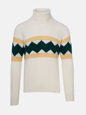 FAY - CREAM-COLORED SWEATER