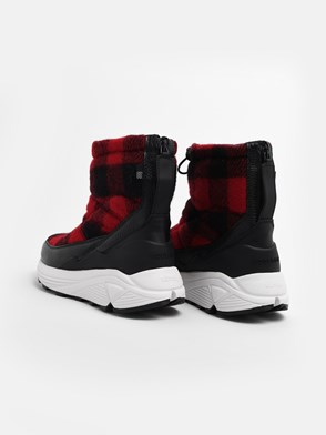 WOOLRICH JOHN RICH & BROS - RED AND BLACK ARTIC BOOTS