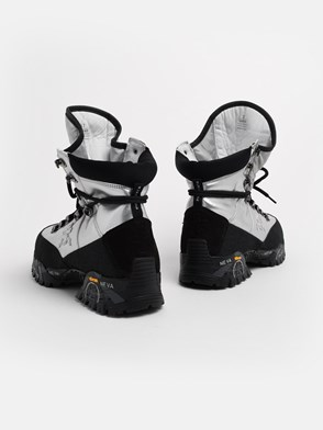 PREMIATA - BLACK AND SILVER MIDTRECD ANKLE BOOTS
