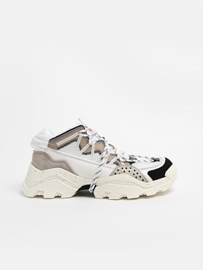 KENZO - WHITE INKA LOW TOP SNEAKERS