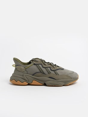 ADIDAS ORIGINALS - GREEN AND GREY OSWEEGO SNEAKERS