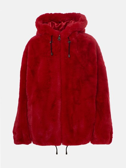 DKNY RED FUR COAT - COD. DL9UF929             603