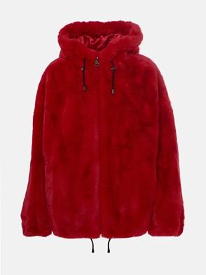 DKNY - RED FUR COAT