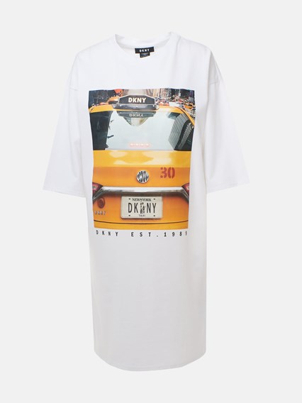 DKNY WHITE T-SHIRT - COD. P9GDPBOB             100