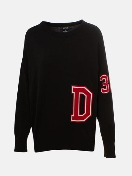 DKNY BLACK SWEATER - COD. P9GS8C74             618