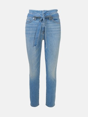 7 FOR ALL MANKIND - JEANS PAPERBAG BLU