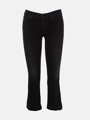 7 FOR ALL MANKIND - JEANS CROPPERD BOOT UNROL NERO