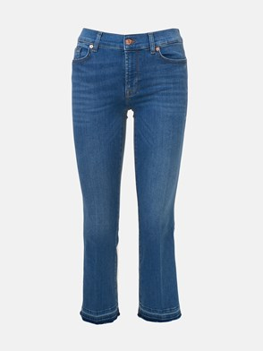 7 FOR ALL MANKIND - JEANS BLU CROPPED BOOT UNROLLE