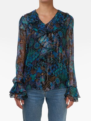 SEE BY CHLOE' - CAMICIA FLOREALE MULTICOLOR