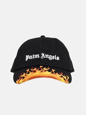 PALM ANGELS - CAPPELLINO BURNING NERO