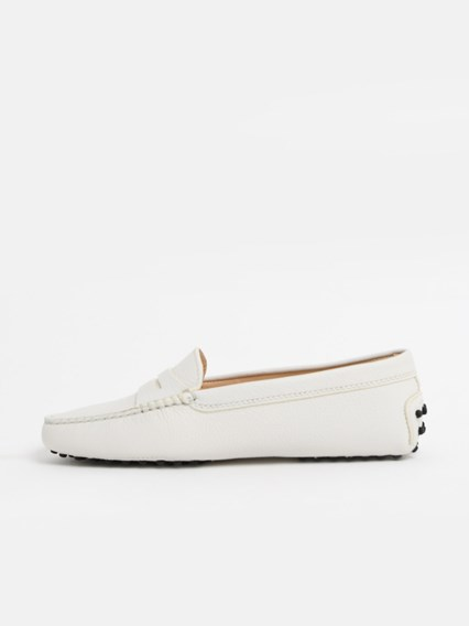 tod's WHITE LOAFERS available on www
