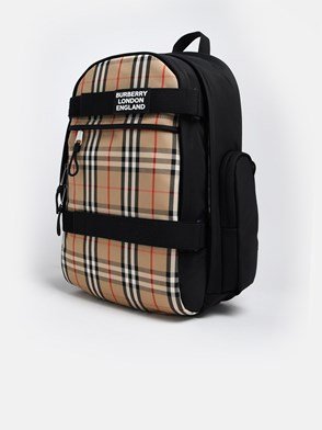 BURBERRY - BEIGE CHECK BACKPACK
