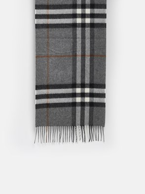 BURBERRY - SCIARPA MU GIANT CHECK GRIGIA