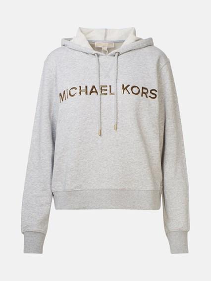 MICHAEL MICHAEL KORS FELPA CAPPUCCIO LOGO GRIGIA - COD. MH95MD997F           036