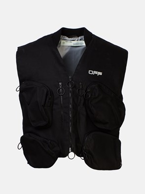 OFF-WHITE - GILET TACTICAL NERO