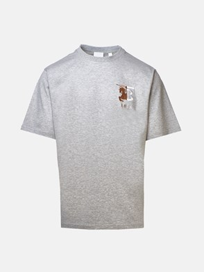 BURBERRY - T-SHIRT HESFORD MAXI LOG.GRIGI