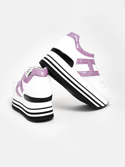 hogan SNEAKERS MAXI H283 ROSA/BIANCH available on www ...