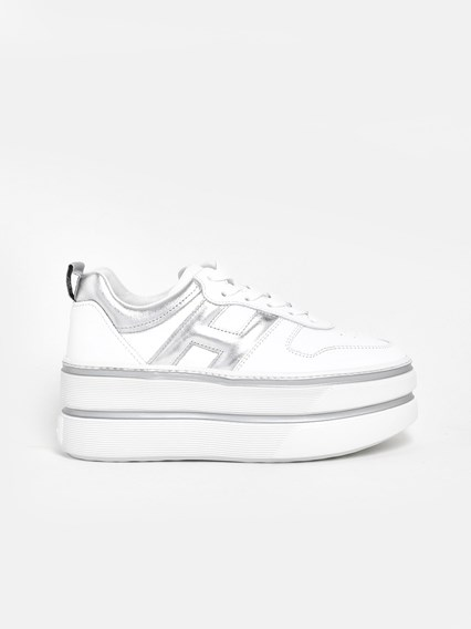 SNEAKERS MAXI H449 ARG/BIANCHE