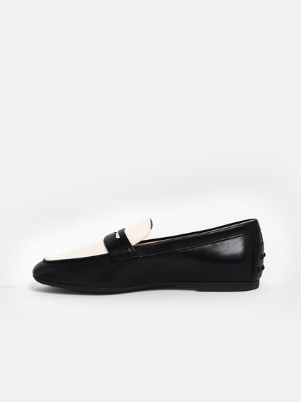 TOD'S BLACK AND WHITE LOAFERS - COD. XXW20C0CI80NB40      090X