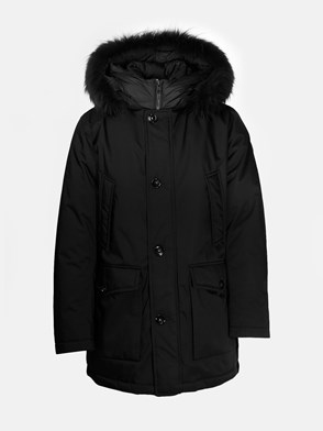 WOOLRICH - PARKA HOLIDAY CANVAS NERO