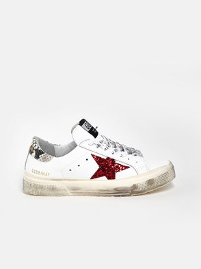 GOLDEN GOOSE DELUXE BRAND - SNEAKERS MAY STELLA ROSSA GLIT