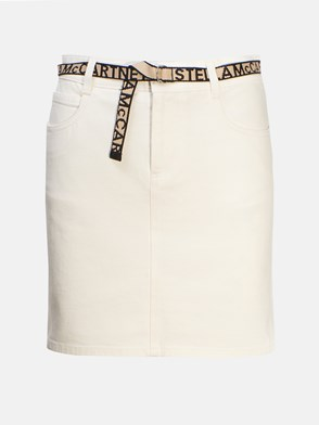 STELLA McCARTNEY - GONNA MINI JEANS BIANCA