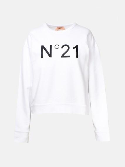 N21 WHITE SWEATSHIRT - COD. E031 6313            1101