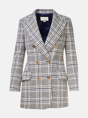 GUCCI - IVORY AND BLUE BLAZER