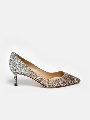 JIMMY CHOO - DECOLLETE ROMY 60 ARGENTO/ROSA