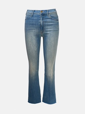 MOTHER - JEANS HUSTLER ANKLE FRAY BLU