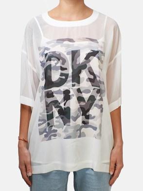 DKNY - WHITE LOGO T-SHIRT