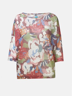 M MISSONI - T-SHIRT STAMPA FLOREALE MULTIC