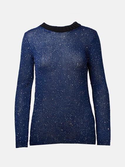M MISSONI BLUE LUREX SWEATER - COD. 2DN00178 2K004A      S70CA