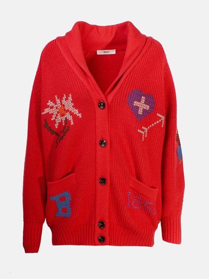 BALLY RED CARDIGAN - COD. 6229594              RED
