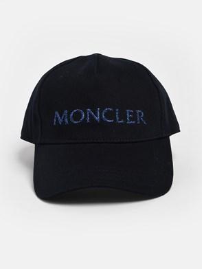 MONCLER - CAPPELLINO SCRITTA LOGO BLU
