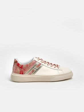 HOGAN - SNEAKERS H365 H ROSA BIANCHE