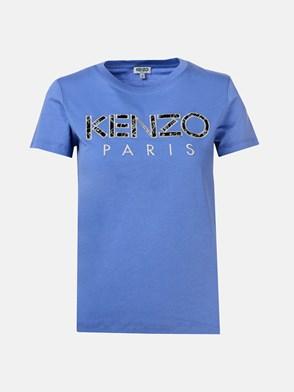 KENZO - T-SHIRT LOGO VIOLA