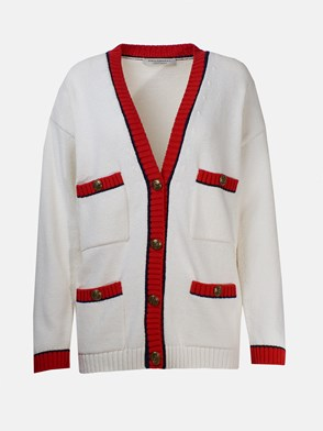 PHILOSOPHY BY LORENZO SERAFINI - CARDIGAN BOTTONI BIANCO