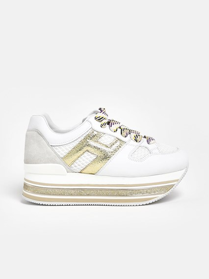 hogan SNEAKERS MAXI H516 ORO/BIANCHE available on www ...