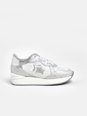 ATLANTIC STAR - WHITE AND SILVER ANDROMEDA SNEAKERS