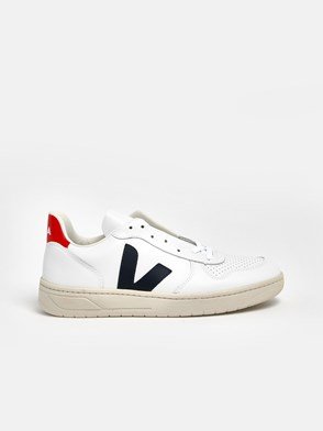 VEJA - SNEAKERS V-10 TALL.ROSSO BIANC
